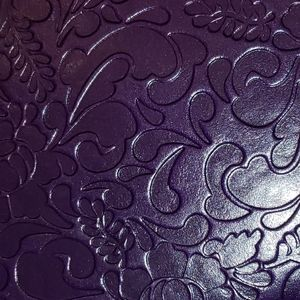 italian Office - Notebook leather purple cover